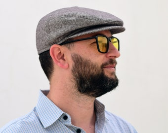 Newspaper boy hat Taupe newsboy hat Womens newsboy cap Mens newsboy hat Wool hat beige Flat cap Driver cap for men Derby hat men Cabbie hat