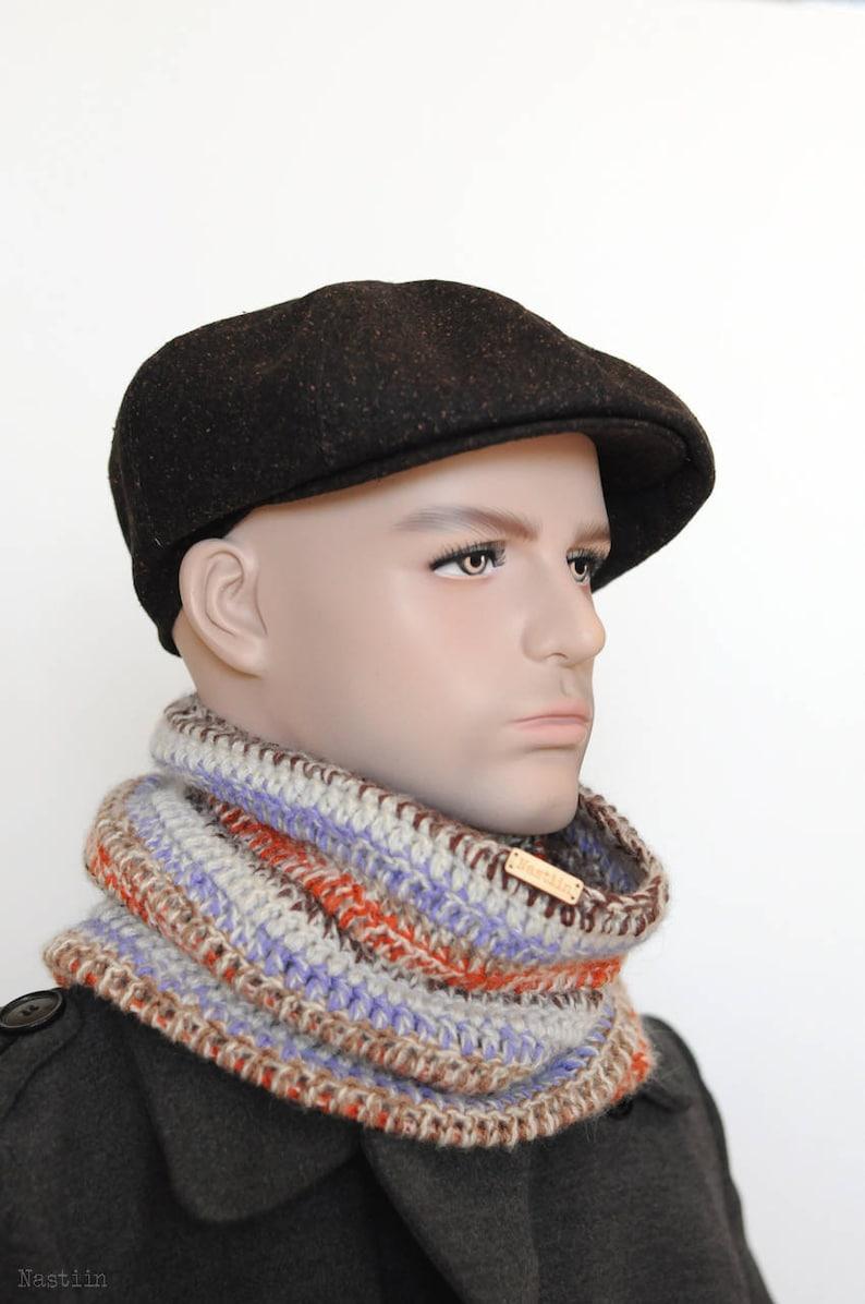 16f7bc6e Brown tweed newsboy hat Mens newsboy hat Drivers cap Womens | Etsy