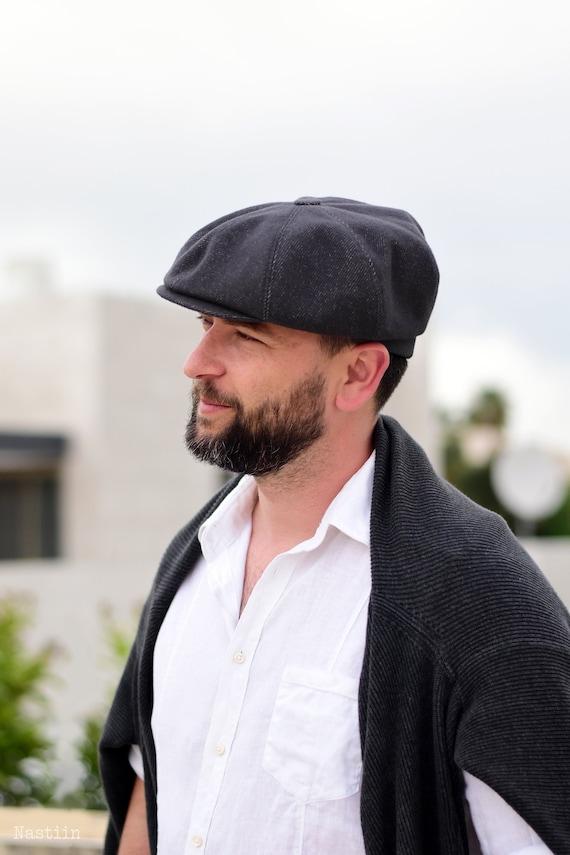 Charcoal newsboy hat Mens newsboy cap Peaky Blinders hat | Etsy
