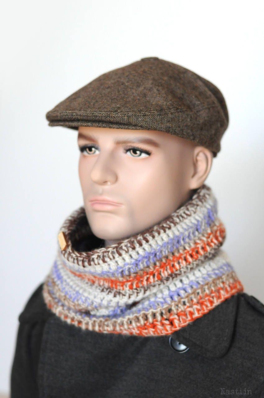 Mens newsboy cap Womens newsboy hat Brown drivers cap  0736995b2050
