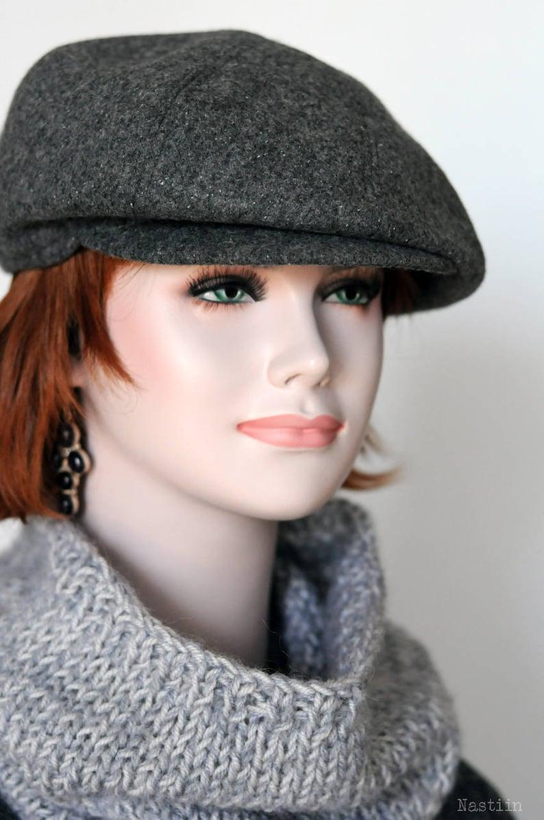 Gray newsboy cap Womens newsboy hat Peaky Blinders hat Autumn  a06a4e460092