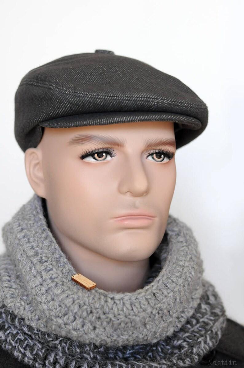 21db385ff39 Blueish grey newsboy hat Mens newsboy cap Womens newsboy hat