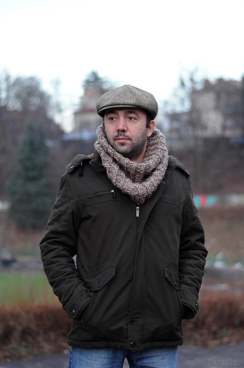 Beige newsboy hat Mens newsboy hat Brown tweed cap Womens  c4e3d3d43575