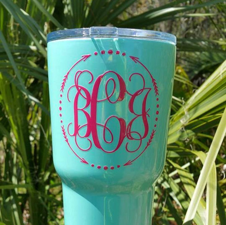 Monogram 30 oz Tumbler - Custom Powder Coat - (Personalized, Rambler, 20  oz, Stainless Steel, Double-Wall, drinkware