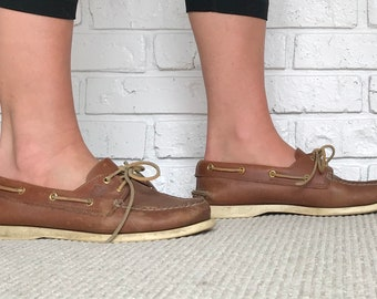 Women's size 8 Tan Leather Sperry Loafers