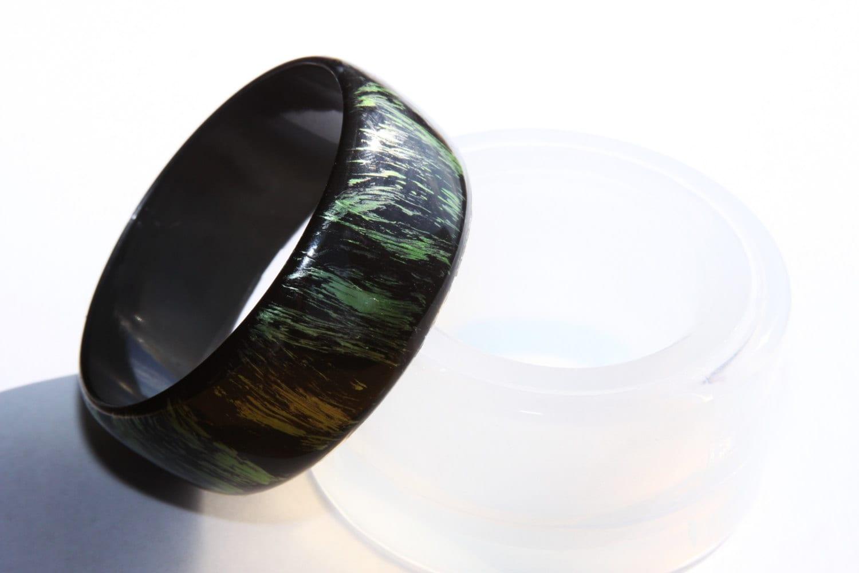 Moule en silicone pour bracelet sur mesure mesure mesure de bracelets - fabrication de bijoux - résine époxy -. Taille 68mm (A87) livraison gratuite USA 5c748d