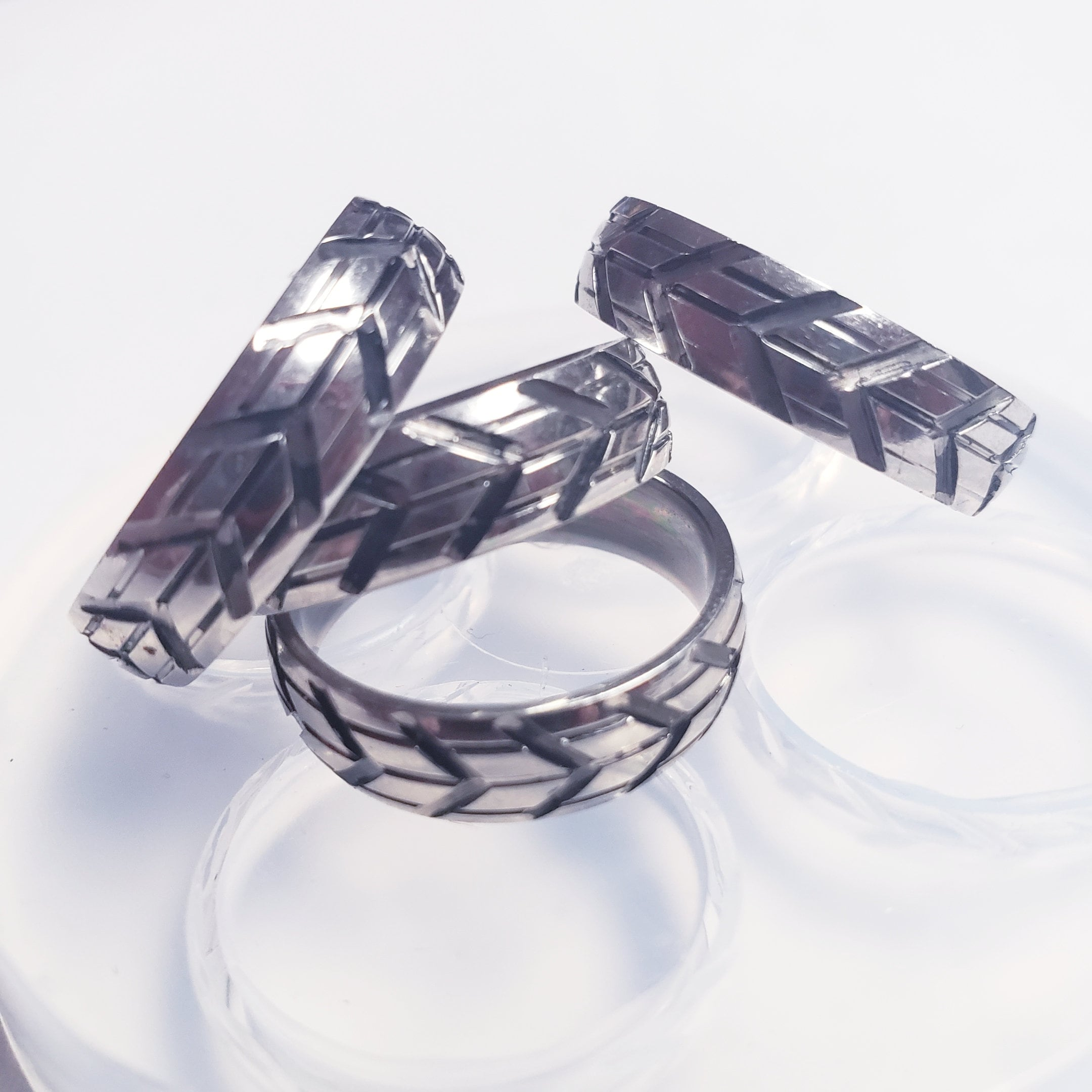 Clear handmade Silicone Mold for Ring size 7.5