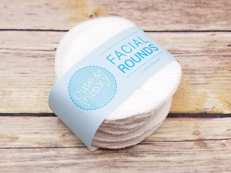 Reusable Cotton Rounds 20 White Makeup Removers Washable image 0