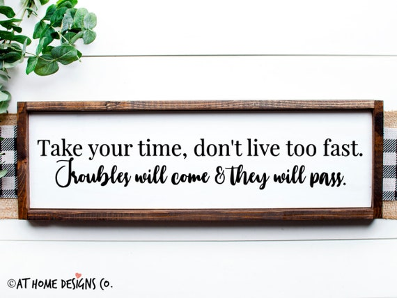 Take Your Time Don T Live Too Fast Svg Lynyrd Skynyrd Etsy