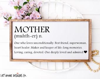 Horizontal Mother Definition SVG / Mother Definition SVG / Mother Daughter svg / Mother's Day Gift / Birthday Sign for Mom