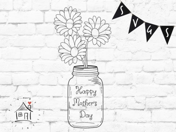Free Lightly tap the jar on the counter to settle. Happy Mother S Day Svg Mother S Day Mason Jar Svg Etsy SVG, PNG, EPS, DXF File