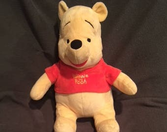 "VALENTINES Gift ( or whenever ) WINNIE the Pooh "" Disney "" ( who doesn't love POOH ?)..16"" Plush , Sig Red Shirt, & is Soo Soft and Sweet"