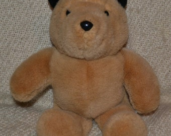 """PADDINGTON VINTAGE 80S , Sooo Soft and Cuddly,Glassy Eyes, Black Ears, Meas. 14"""" Excellent Cond.  No Clothes"""