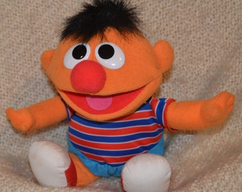 "TICKLE ME ERNIE, Plush. 13"", He Laughs, Vibrates & says ""That Tickles."" Tyco 1996."
