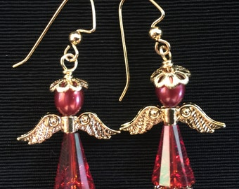 Red Angel Earrings Design 3