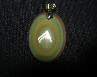 Rainbow obsidian necklace