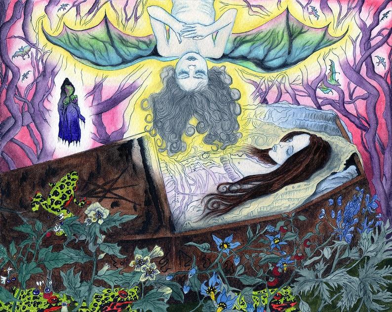 Death Poison Rebirth into the Maleficium Cultus Print image 0