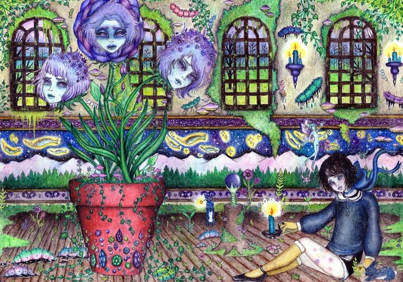 Alexsander & The Plant Boy Oracles Print image 0