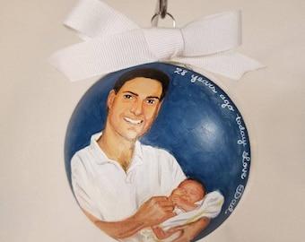 Custom Hand painted portrait Ornament
