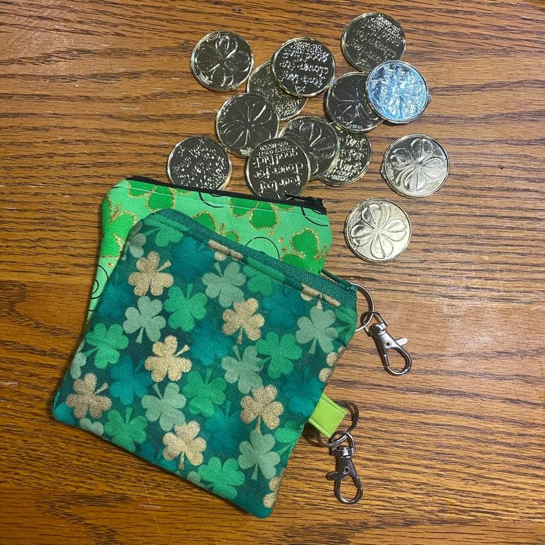 Handmade St Patrick\u2019s Day Themed Coin Purses
