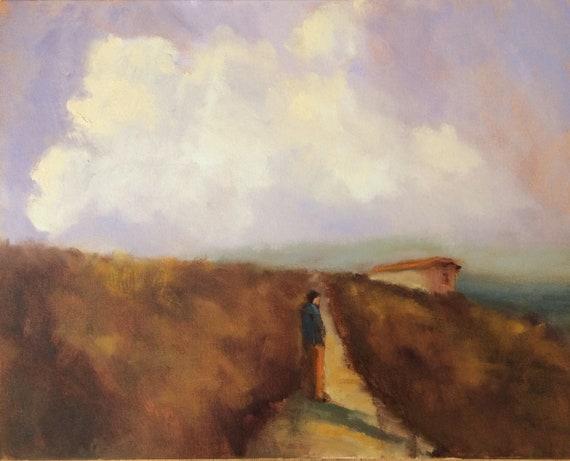 Britanny Trail - France landscape plein air 20x16 oil painting