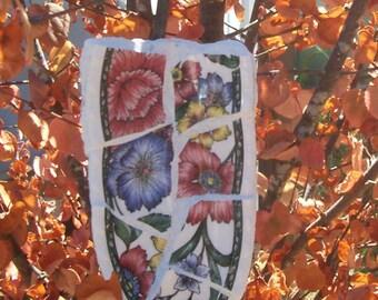 Mosaic Garden Art, Decorative Trowel, Unique Yard Art, Mosaic Shovel, Big  Floral Vintage China