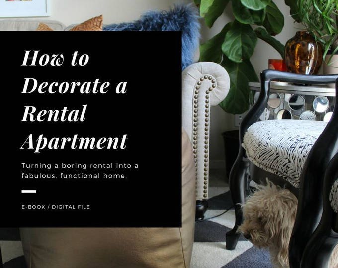 "apartment decorating eBook - ""The Easy Guide to Decorating a Rental Apartment"""