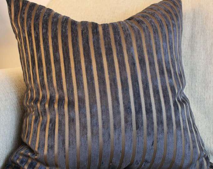 DISCONTINUED black and brown striped pillow