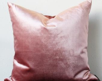 QUICK SHIP mauve velvet pillow COVER only