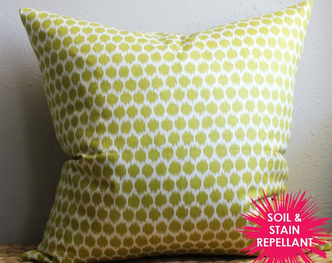 DISCONTINUED lime green dotted pillow - Soil & Stain Resistant