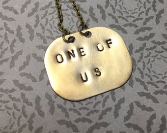 One of Us-Freaks Necklace-Tod Browning-Horror Fan-1932-Carnival-Sideshow-Freak-Outcast-Misfits-Circus-Horror Movie-Horror Freak-Horror