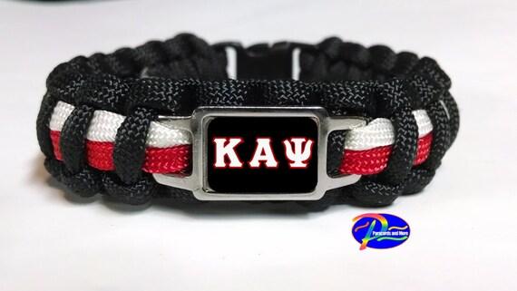 Kappa Alpha Psi Fraternity Survival Paracord Bracelet with Organization Symbol