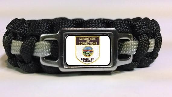 Thin Silver Line Kansas Department Of Corrections Kdoc Patch Paracord Survival Bracelet