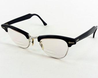 75f7e765c7 Vintage 50s - 60s Shuron Plastic Horn-Rimmed Eyeglasses