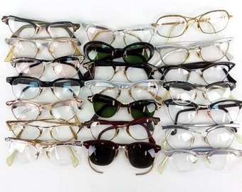 f6dca7fd59c Lot of 21 Vintage 40s - 60s Eyeglasses