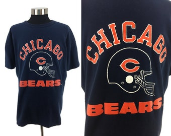 16f2bfd02d3 Vintage 80s Chicago BEARS T-Shirt XXL | 1980s Champion all cotton throwback  athletic helmet football NFL retro graphic super bowl 80s xl