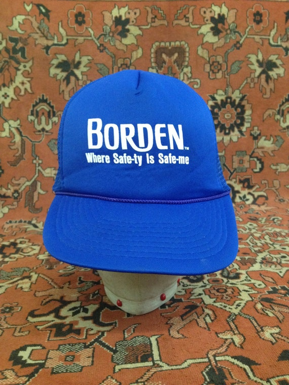 87b42d62366 Vintage Borden Where Safe-ty Is Safe-me Trucker