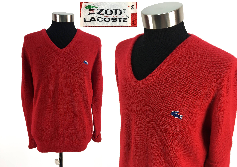 2cd9f10bd2 Vintage 70s Izod LACOSTE Acrylic Pullover Sweater MEDIUM