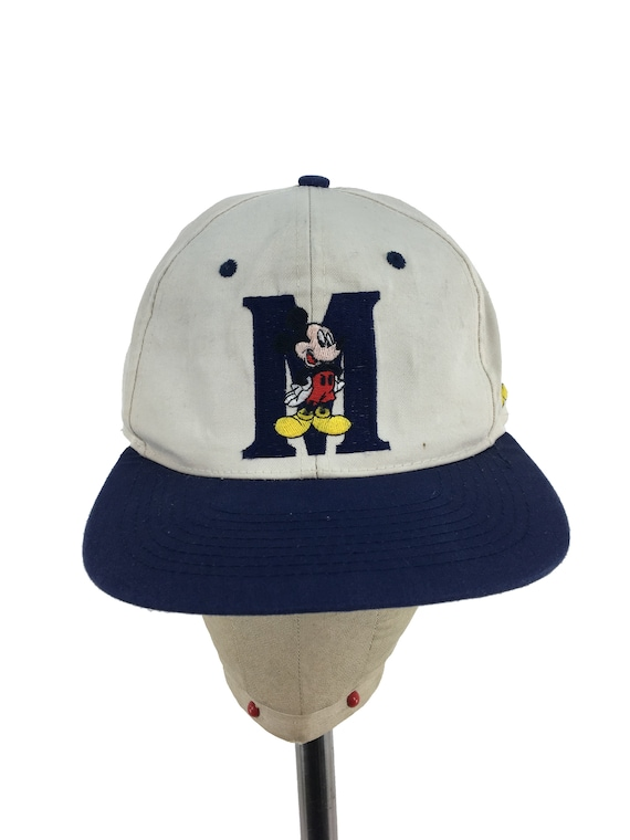 ef05d4689a9 Vintage 80s 90s MICKEY MOUSE Snap-Back Hat Disney dad hat