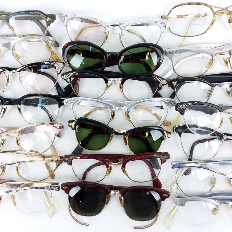8b16ad25d25a Lot of 21 Vintage 40s 60s Eyeglasses glasses eyewear horn