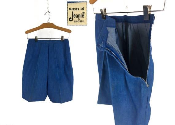 Vintage 1960s JEANIES High-Waist Denim Shorts Size