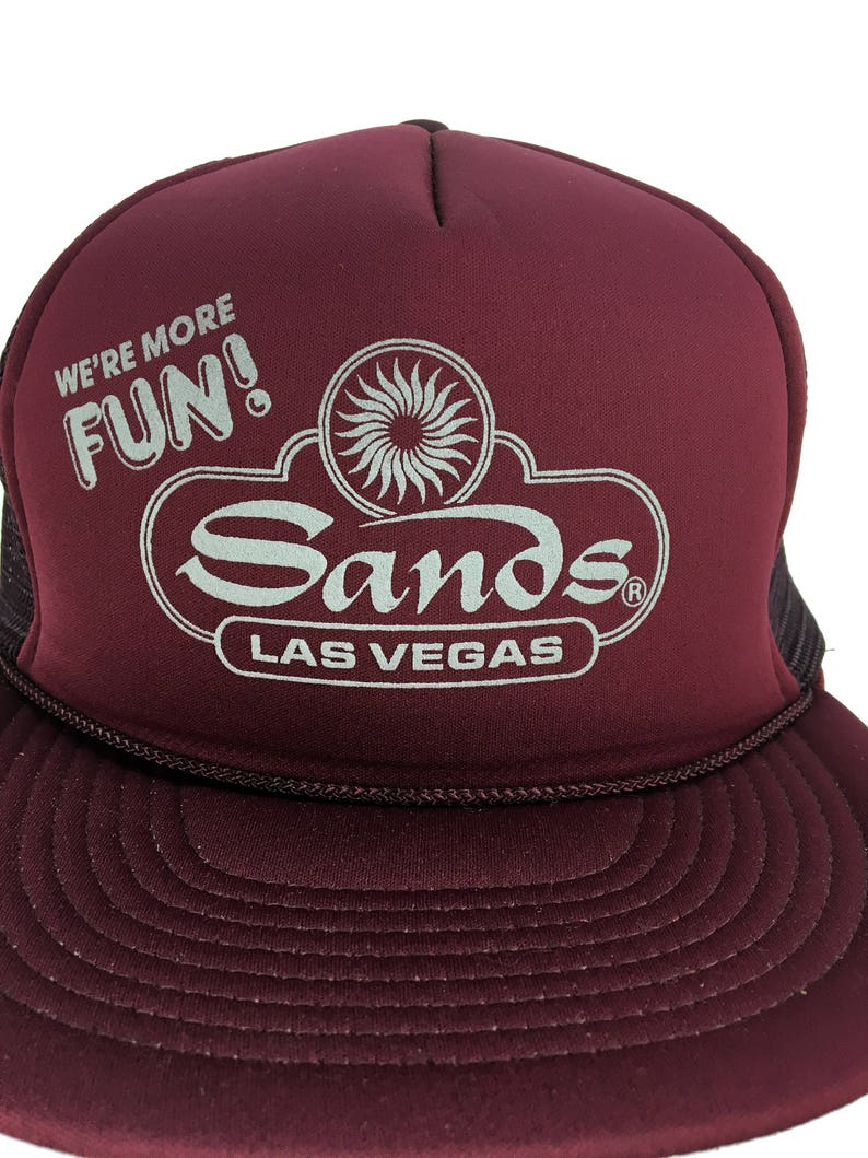 a3b647e21435b Vintage Sands Las Vegas Trucker Hat    Snap-Back    Mesh