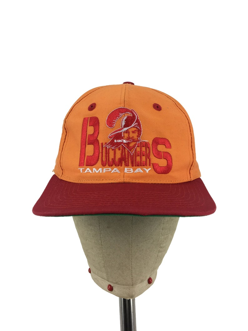 1b1e198b Vintage Tampa Bay Buccaneers Snap-Back Hat | NFL football snapback athletic  orange Florida 80s 90s throwback NFC South gulf coast