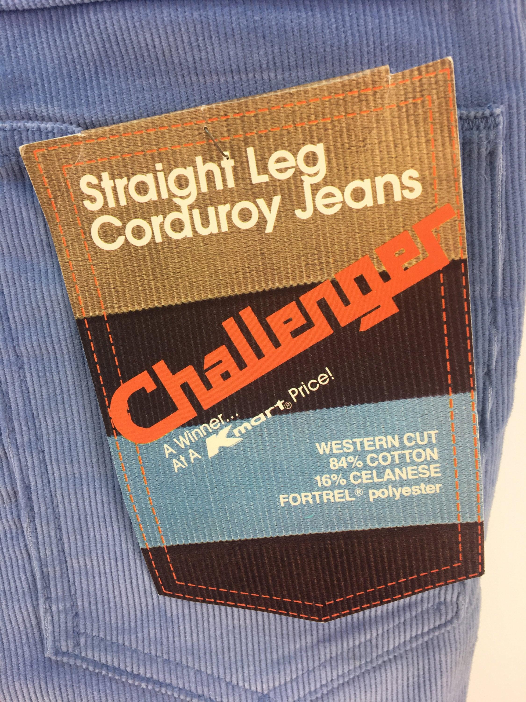 Vintage 70s CHALLENGER CHALLENGER CHALLENGER NOS Western Cut Corduroy Pants tamaño 34 x 29    NWT    Deadstock    1970s    34 Waist    29 Inseam     botas  Cut e03a39
