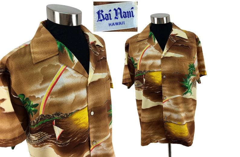 50880fe3 Vintage 70s Aloha HAWAIIAN Shirt XL Surf Hawaii Island | Etsy