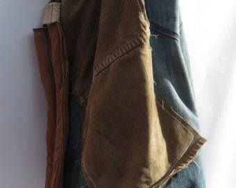 Unique Upcycled Unisex Stone Washed Denim Eco-friendly Duffle Bag