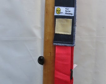 Unisex Unique Eco friendly Padded Blue Denim Guitar Strap (with pocket for pick)