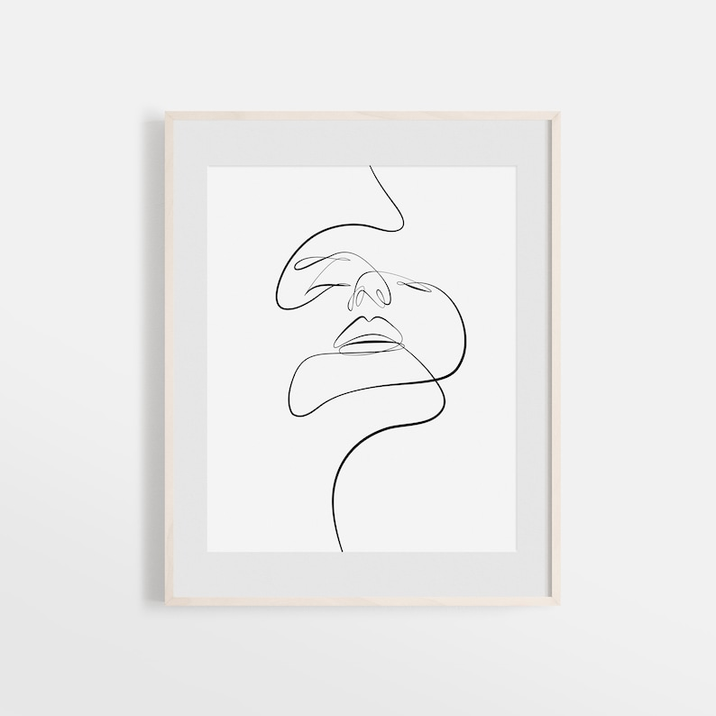 photograph relating to Printable Face referred to as Summary Girl Facial area Print, Printable A single Line Drawing, Woman Constant Strains, Minimalist Art, Encounter Line Artwork, Ground breaking Wall Artwork, Decor
