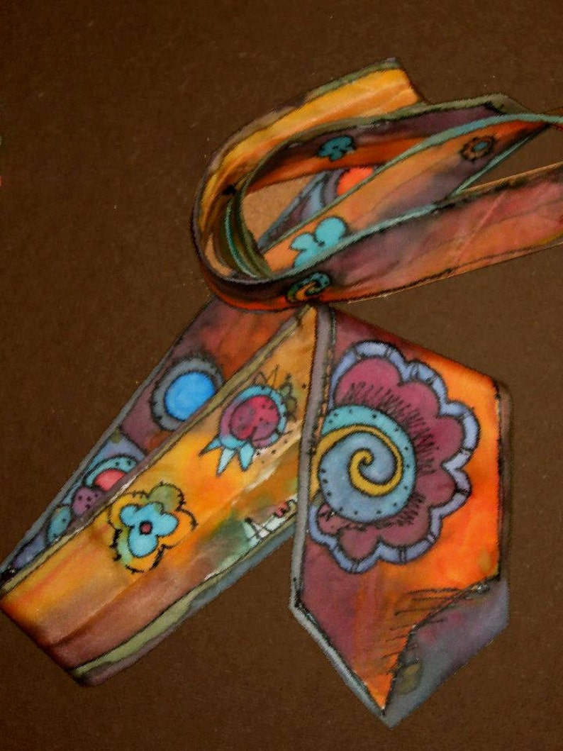 Father/'s Da HAPPY TIE ilk tie handmade painted made to order