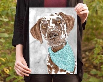 Pet Portrait | 100% Hand Painted From Photo | Dog Cat Watercolor Portrait | Pet Lover Gift | Pet Memorial Gift